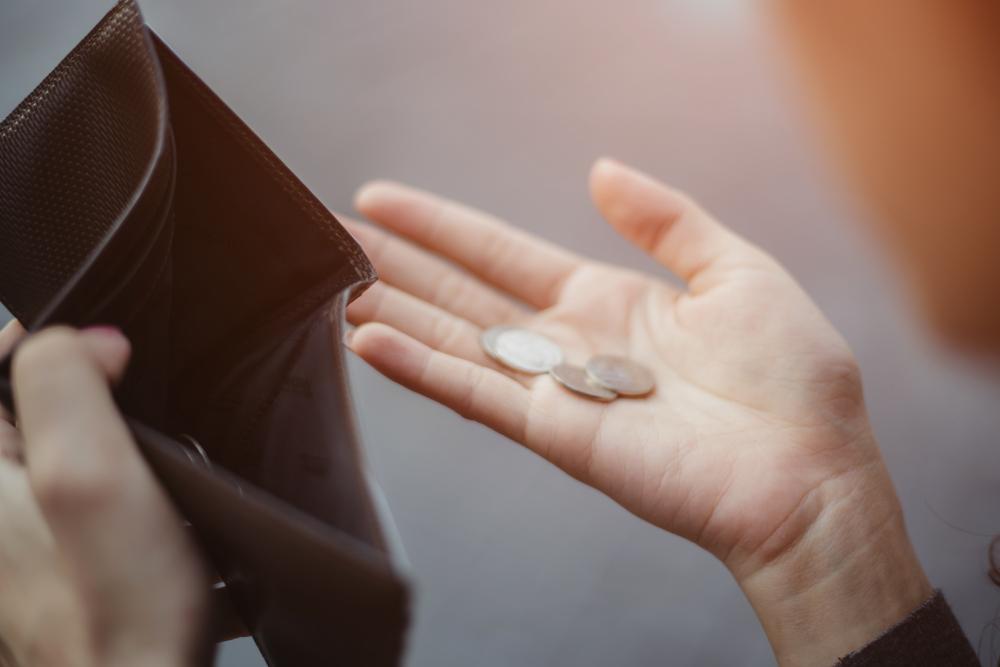 No money in wallet.