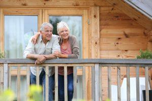 Senior couple in senior housing.