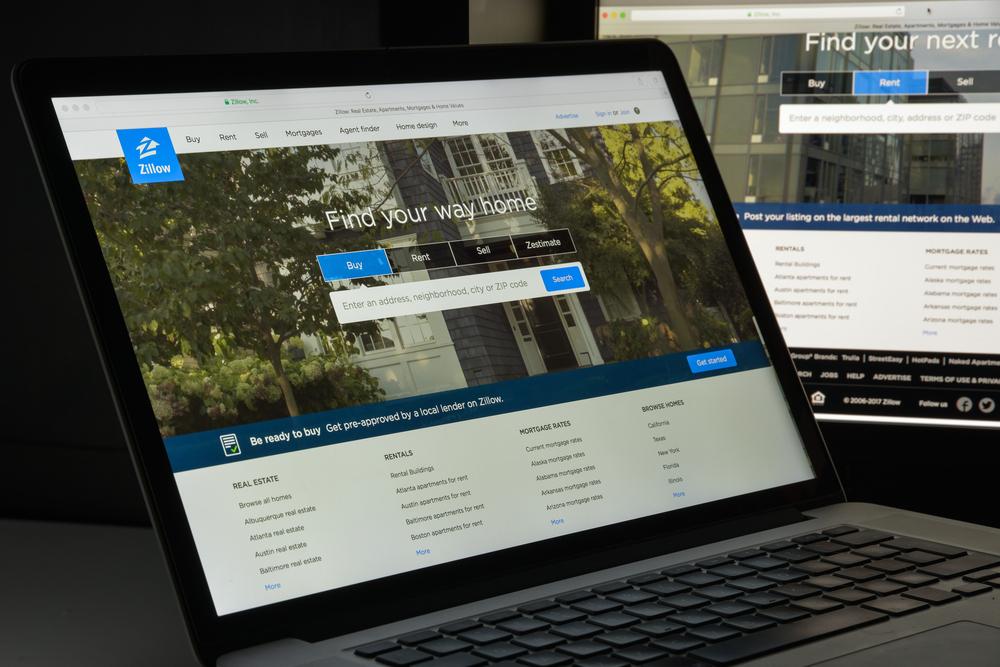 Zillow website.